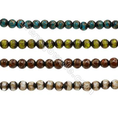 8mm Handmade Lampwork Strand Beads  Round  Hole: 1.5-2mm  50 beads/strand  15~16""