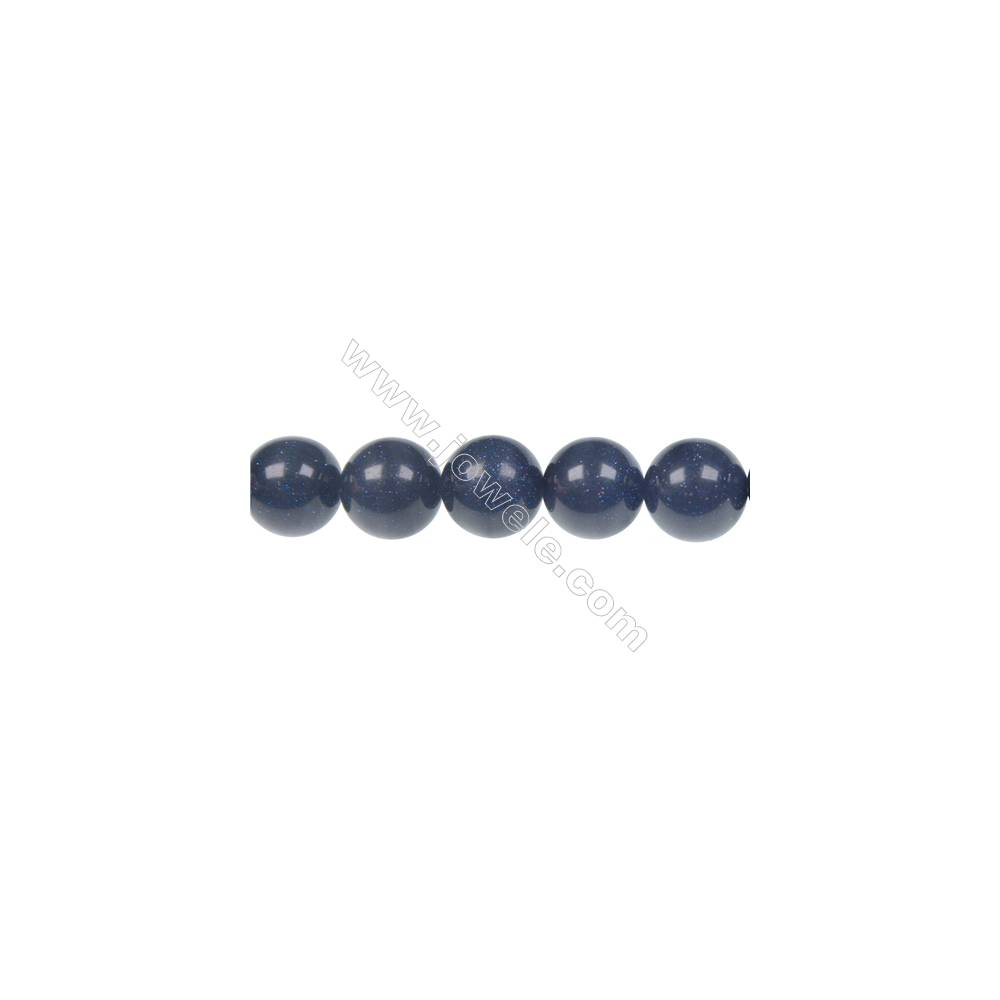 12mm Blue Sandstone  strand beads, semi precious stone for jewelry making, Hole 1.5mm, 33 beads/strand, 15~16""
