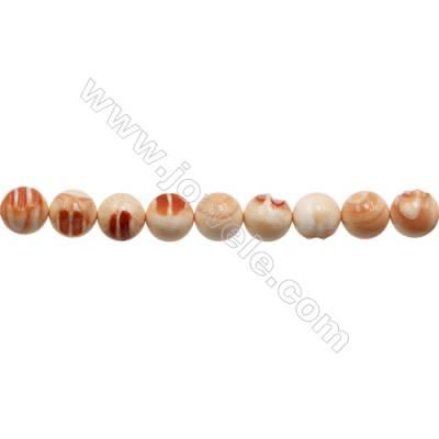 """Natural Tridacnidae Strand Beads  Round  Diameter 18mm  Hole: 1.5mm  22 beads/strand  15~16"""""""