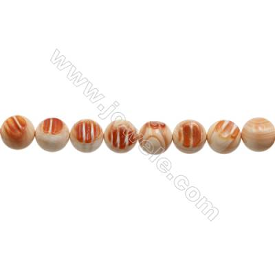 Natural Tridacnidae Strand Beads  Round  Diameter 20mm  Hole: 1.5mm  20 beads/strand  15~16""