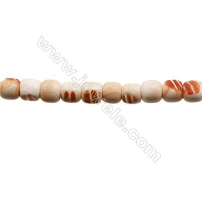 """Natural Tridacnidae Strand Beads  Barrel  Size 14x16mm  Hole: 1.5mm  27 beads/strand  15~16"""""""