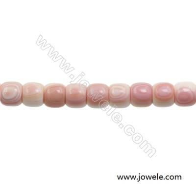 Natural Pink Mother Of Pearl Beads Strand, Barrel, Size 14x16mm, Hole 1.5mm, about 25 beads/strand, 15~16""
