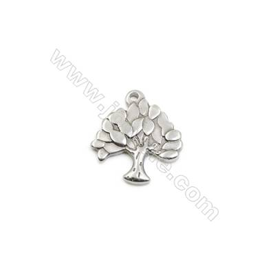 304 Stainless Steel Pendant  Tree  Size 17x19mm  100pcs/pack