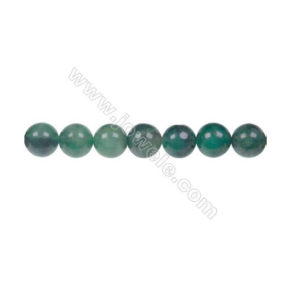 """Natural verdite jade round strand beads, Diameter 8mm, Hole 1mm, 48 beads/strand, 15~16"""""""
