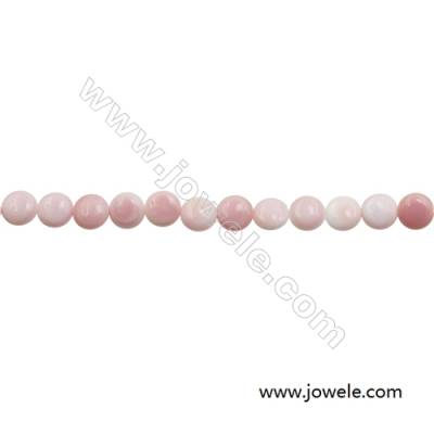 Natural Pink Mother Of Pearl Beads Strand, Rondelle, Diameter 10mm, Hole 0.8mm, about 40 beads/strand, 15~16""