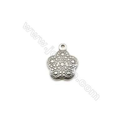 304 Stainless Steel Pendant  Flower  Size 15x18mm  100pcs/pack