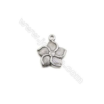 304 Stainless Steel Pendant  Flower  Size 16x19mm  100pcs/pack