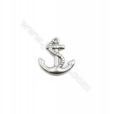 304 Stainless Steel Pendant  Anchor  Size 19x20mm  100pcs/pack
