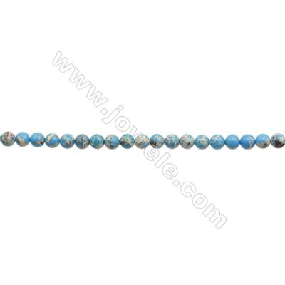 """Imperial Jasper Round Beads Strand  Blue (dyed)  Diameter 10mm  Hole 1.5mm  about 40 beads/strand 15~16"""""""