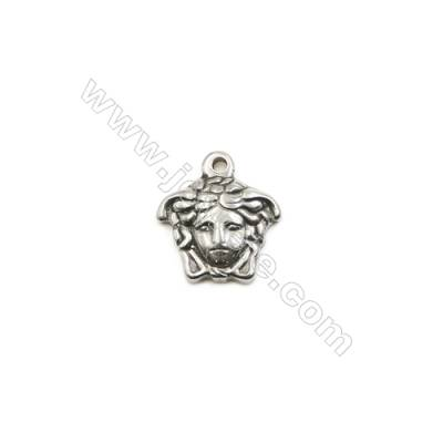 304 Stainless Steel Pendant  Jesus Christ  Size 15x16mm  100pcs/pack