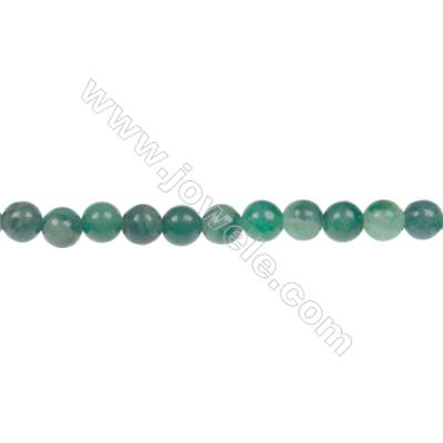 Natural verdite jade round strand beads, Diameter 4mm, Hole 0.8 mm, 97 beads/strand, 15~16""