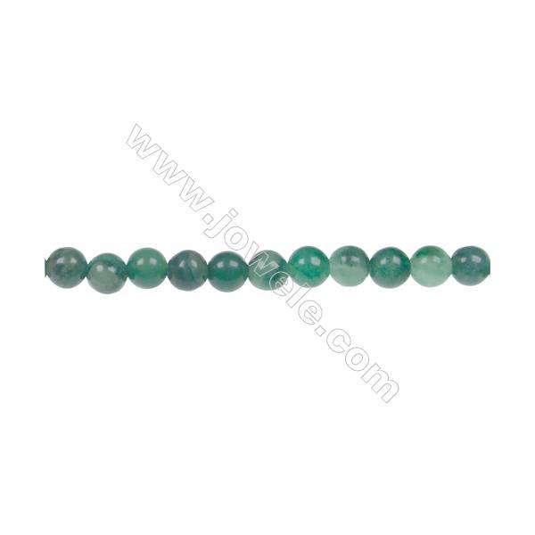 """Natural verdite jade round strand beads, Diameter 4mm, Hole 0.8 mm, 97 beads/strand, 15~16"""""""