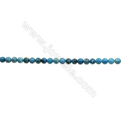 """Imperial Jasper Round Beads Strand  Blue (dyed)  Diameter 4mm  Hole 0.8mm  about 96 beads/strand 15~16"""""""