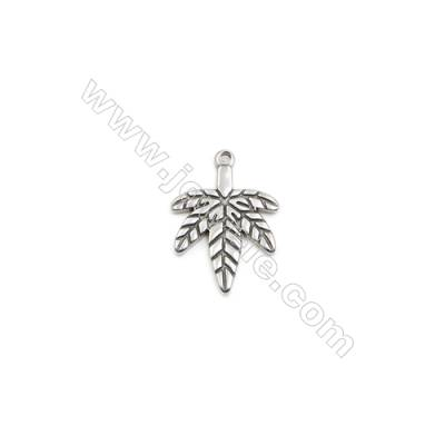 304 Stainless Steel Pendant  Maple Leaf  Size 18x25mm  100pcs/pack