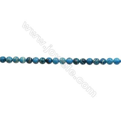 """Imperial Jasper Round Beads Strand  Blue (dyed)  Diameter 6mm  Hole 0.8mm  about 66 beads/strand 15~16"""""""