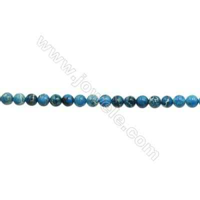 """Imperial Jasper Round Beads Strand  Blue (dyed)  Diameter 8mm  Hole 1mm  about 50 beads/strand 15~16"""""""