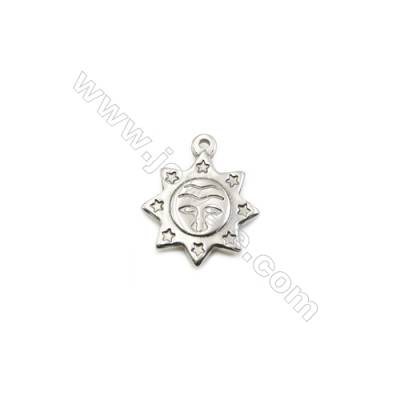 304 Stainless Steel Pendant  Sun  Size 18x21mm  100pcs/pack