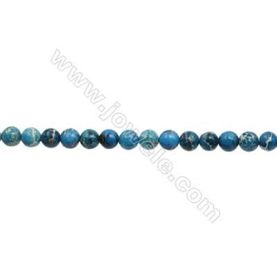 """Imperial Jasper Round Beads Strand  Blue (dyed)  Diameter 10mm  Hole 1.2mm  about 40 beads/strand 15~16"""""""