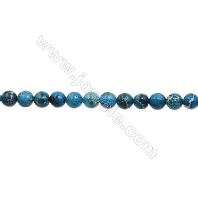 """Imperial Jasper Round Beads Strand  Blue (dyed)  Diameter 12mm  Hole 1.2mm  about 33 beads/strand 15~16"""""""