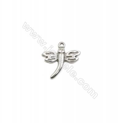 304 Stainless Steel Pendant  Dragonfly  Size 19x20mm  100pcs/pack