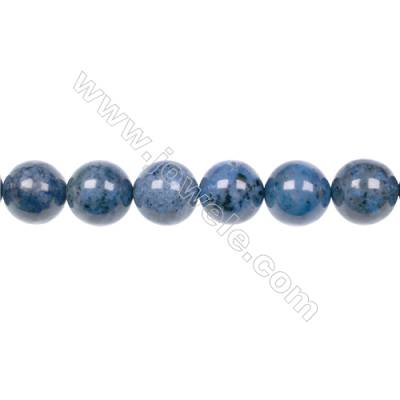 AA quality dumortierite 12mm round strand beads for jewelry making  hole 1.5mm  32 beads/strand  15~16''