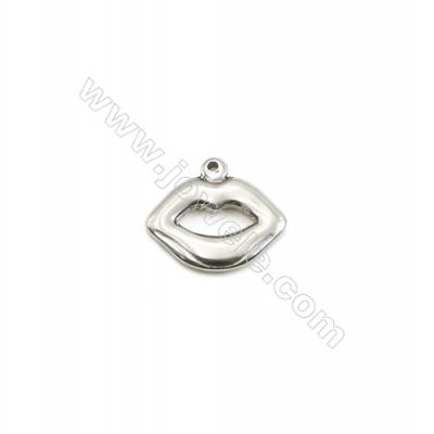 304 Stainless Steel Pendant  Lips  Size 15x18mm  100pcs/pack