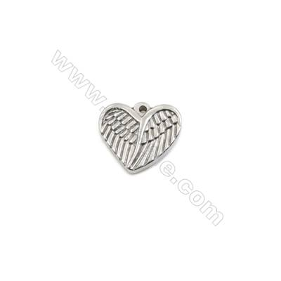 304 Stainless Steel Pendant  Heart  Size 16x18mm  100pcs/pack
