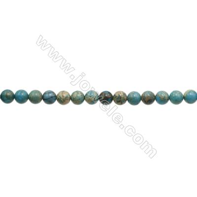 """Serpentine Round Beads Strand  Blue (dyed)  Diameter 10mm  Hole 1mm  about 40 beads/strand 15~16"""""""