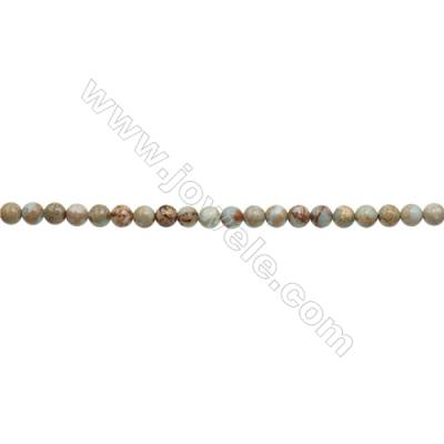 """Natural Serpentine Round Beads Strand  Diameter 4mm  Hole 0.8mm  about 96 beads/strand 15~16"""""""