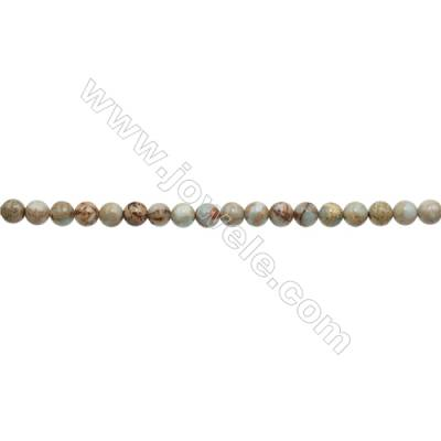 Natural Serpentine Round Beads Strand  Diameter 6mm  Hole 0.8mm  about 66 beads/strand 15~16""