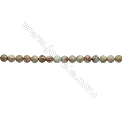 Natural Serpentine Round Beads Strand  Diameter 8mm  Hole 1mm  about 50 beads/strand 15~16""