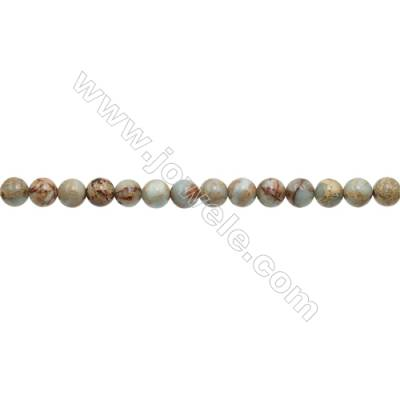 Natural Serpentine Round Beads Strand  Diameter 10mm  Hole 1mm  about 40 beads/strand 15~16""