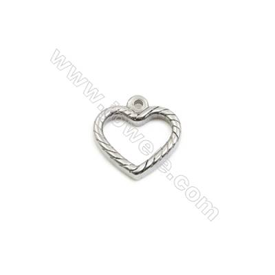 304 Stainless Steel Pendant  Heart  Size 18x18mm  100pcs/pack