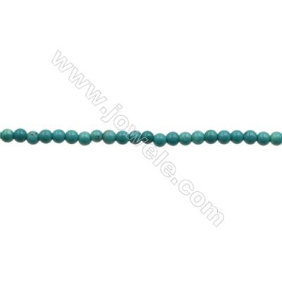 XinJiang Turquoise Round Beads Strand  Dyed  Diameter 2mm  Hole 0.6mm  about 190 beads/strand 15~16""