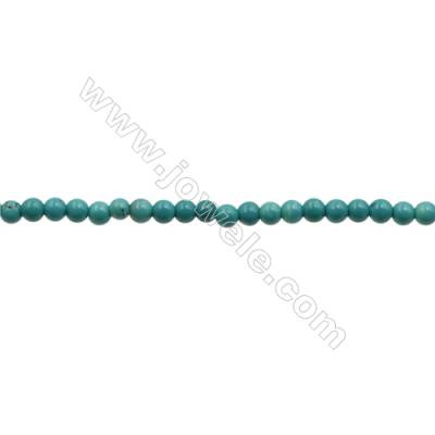 XinJiang Turquoise Round Beads Strand  Dyed  Diameter 3mm  Hole 0.6mm  about 133 beads/strand 15~16""