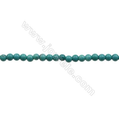 XinJiang Turquoise Round Beads Strand  Dyed  Diameter 4mm  Hole 0.8mm  about 100 beads/strand 15~16""