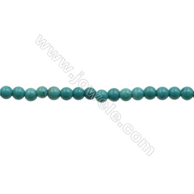 XinJiang Turquoise Round Beads Strand  Dyed  Diameter 6mm  Hole 0.8mm  about 66 beads/strand 15~16""