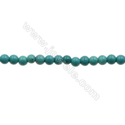 XinJiang Turquoise Round Beads Strand  Dyed  Diameter 8mm  Hole 1mm  about 50 beads/strand 15~16""