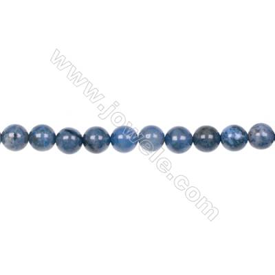 AA quality dumortierite 8mm round strand beads for jewelry making  hole 1.2mm  49 beads/strand  15~16''