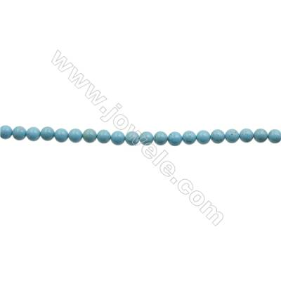 Howlite Round Beads Strand  Dyed Blue  Diameter 4mm  Hole 0.6mm  about 96 beads/strand 15~16""