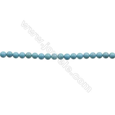 Howlite Round Beads Strand  Dyed Blue  Diameter 6mm  Hole 0.6mm  about 66 beads/strand 15~16""
