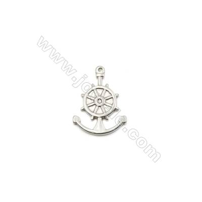304 Stainless Steel Pendant  Anchor  Size 18x25mm  100pcs/pack