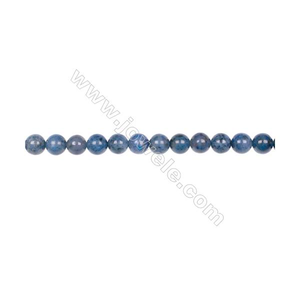 AA quality dumortierite 6mm round strand beads for jewelry making  hole 1mm  64 beads/strand  15~16''
