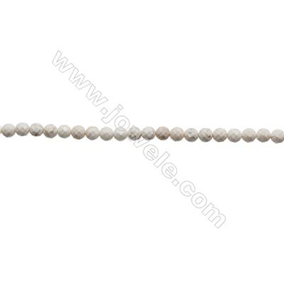 Howlite Round Beads Strand  Faceted  Diameter 4mm  Hole 0.6mm  about 96 beads/strand 15~16""