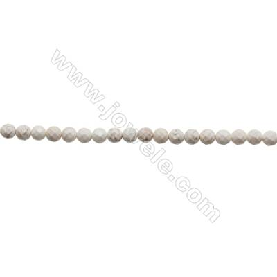 Howlite Round Beads Strand  Faceted  Diameter 6mm  Hole 0.8mm  about 66 beads/strand 15~16""