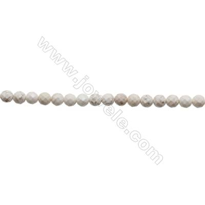 Howlite Round Beads Strand  Faceted  Diameter 8mm  Hole 1mm  about 50 beads/strand 15~16""