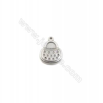 304 Stainless Steel Pendant  Bag  Size 13x16mm  100pcs/pack