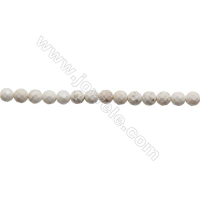 Howlite Round Beads Strand  Faceted  Diameter 10mm  Hole 1mm  about 40 beads/strand 15~16""