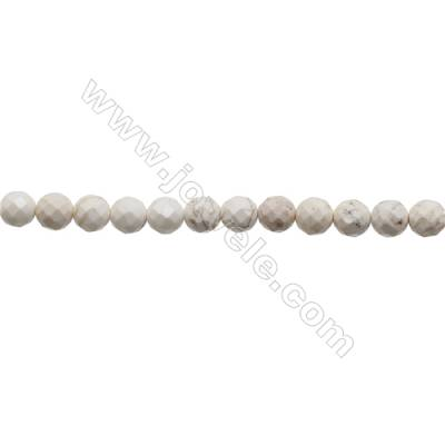 Howlite Round Beads Strand  Faceted  Diameter 12mm  Hole 1.2mm  about 33 beads/strand 15~16""