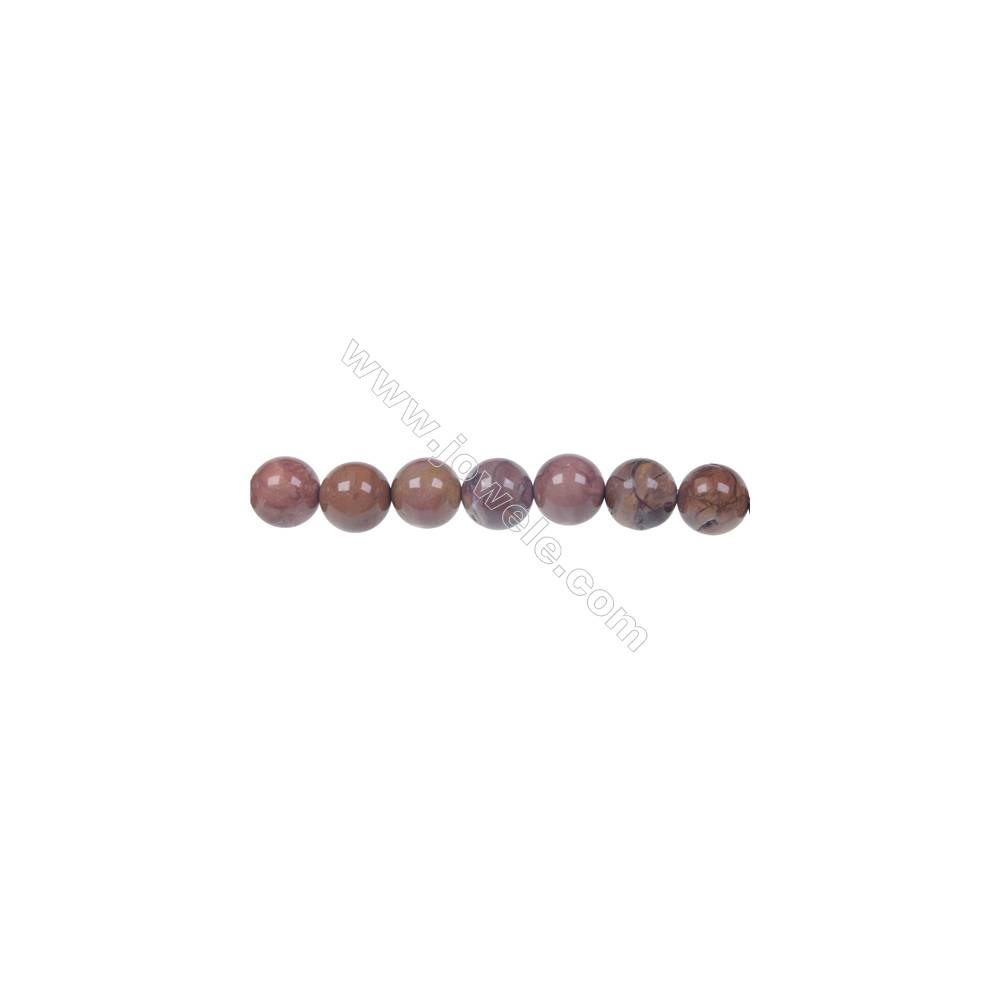 Red porcelain jasper 8mm round strand beads, Hole 1.2mm, 48 beads/strand, 15~16""